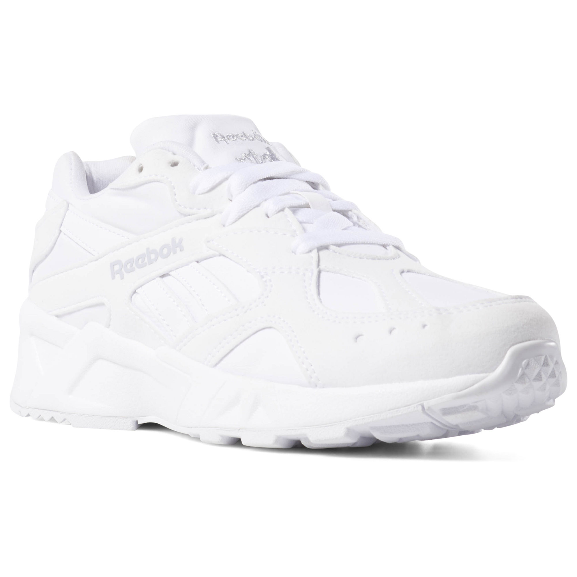 Reebok Aztrek Womens White/Grey Sneakers (942NFRDM)