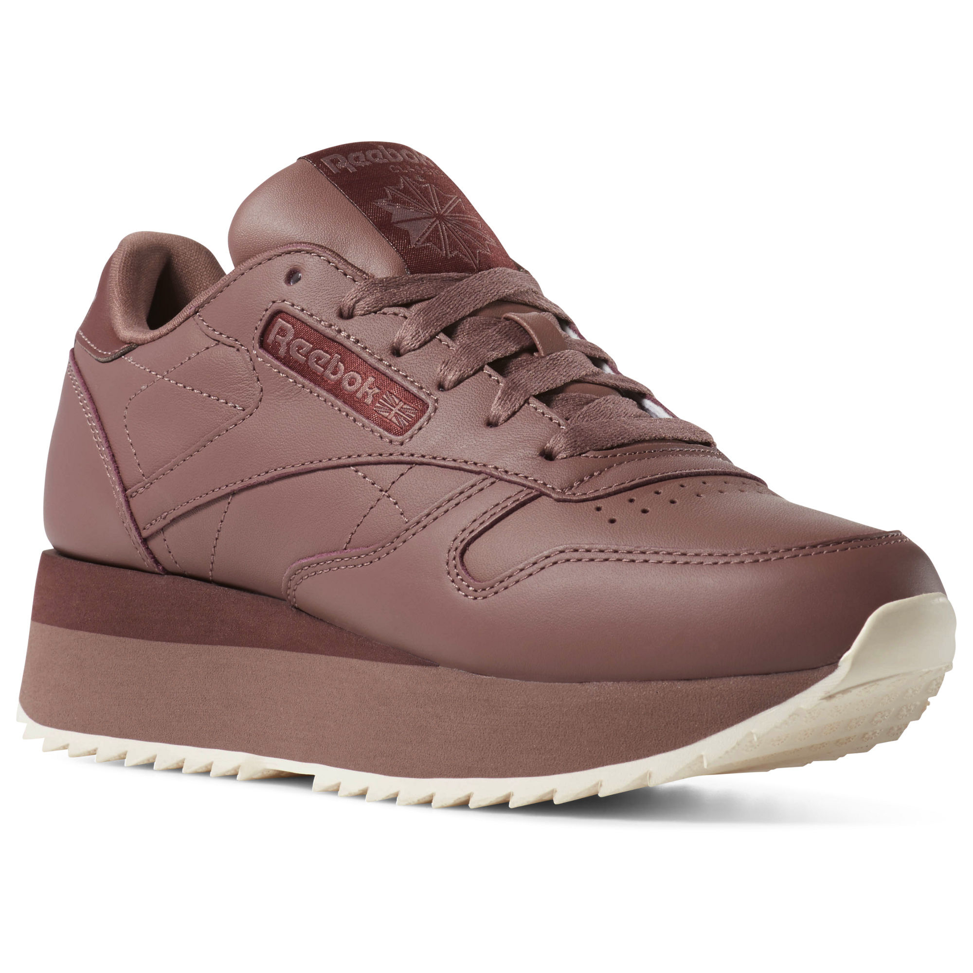 Reebok Classic Leather Double Womens Rose/Pink Sneakers (884TFYSL)