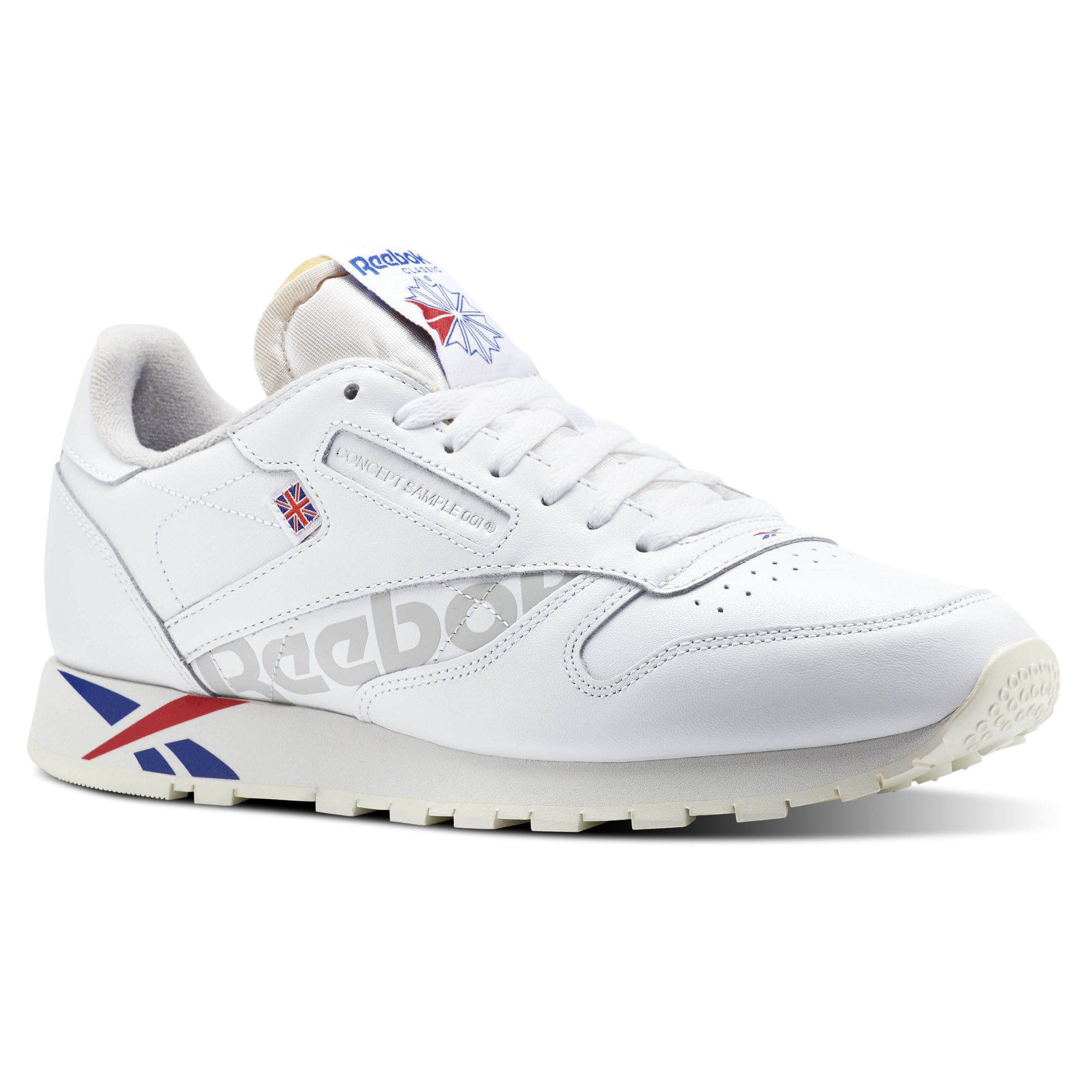 Reebok Classic Leather MU Mens Royal Dark/Red/White Sneakers (804VJNPR)