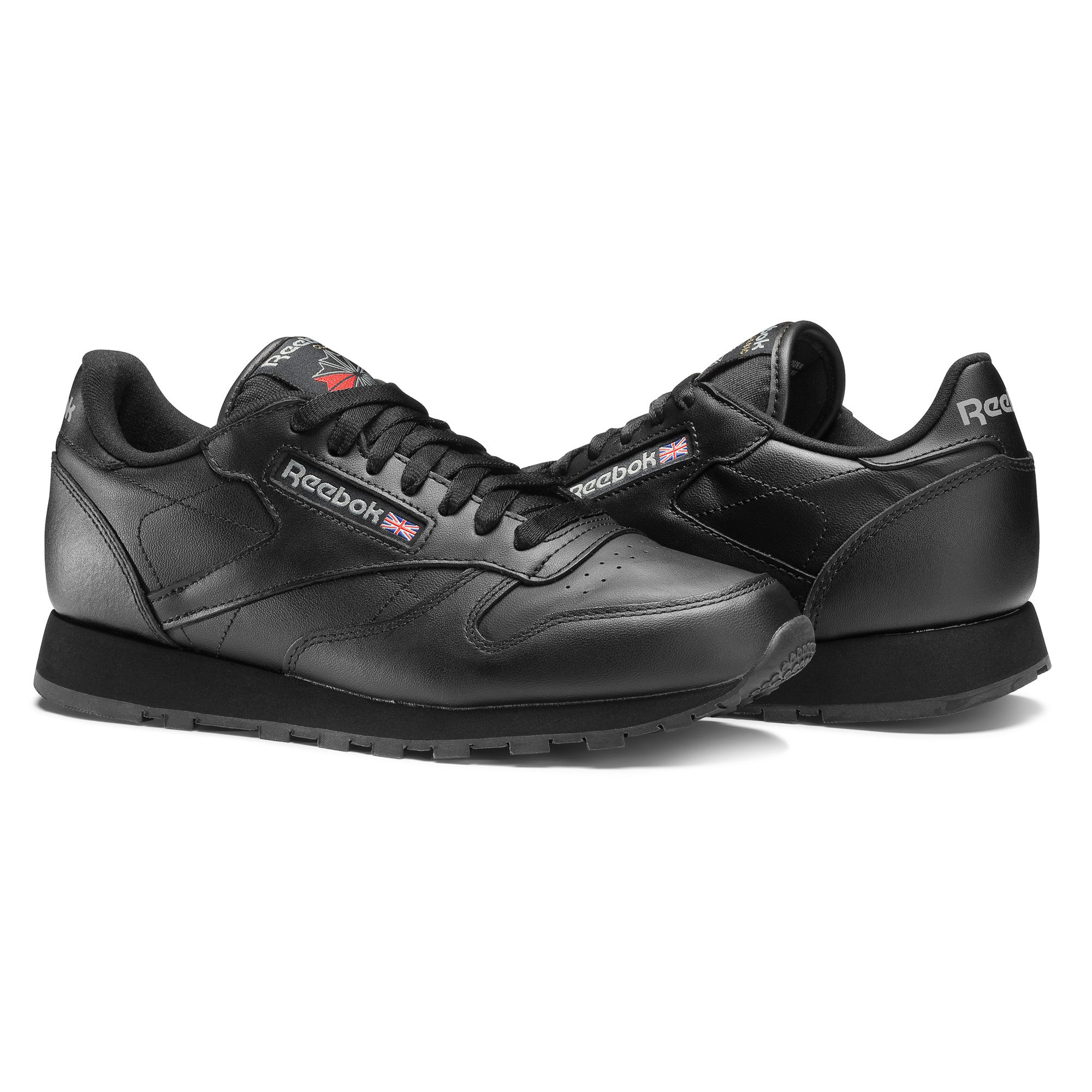 Reebok Classic Leather Mens Black Sneakers (275LEUYH)