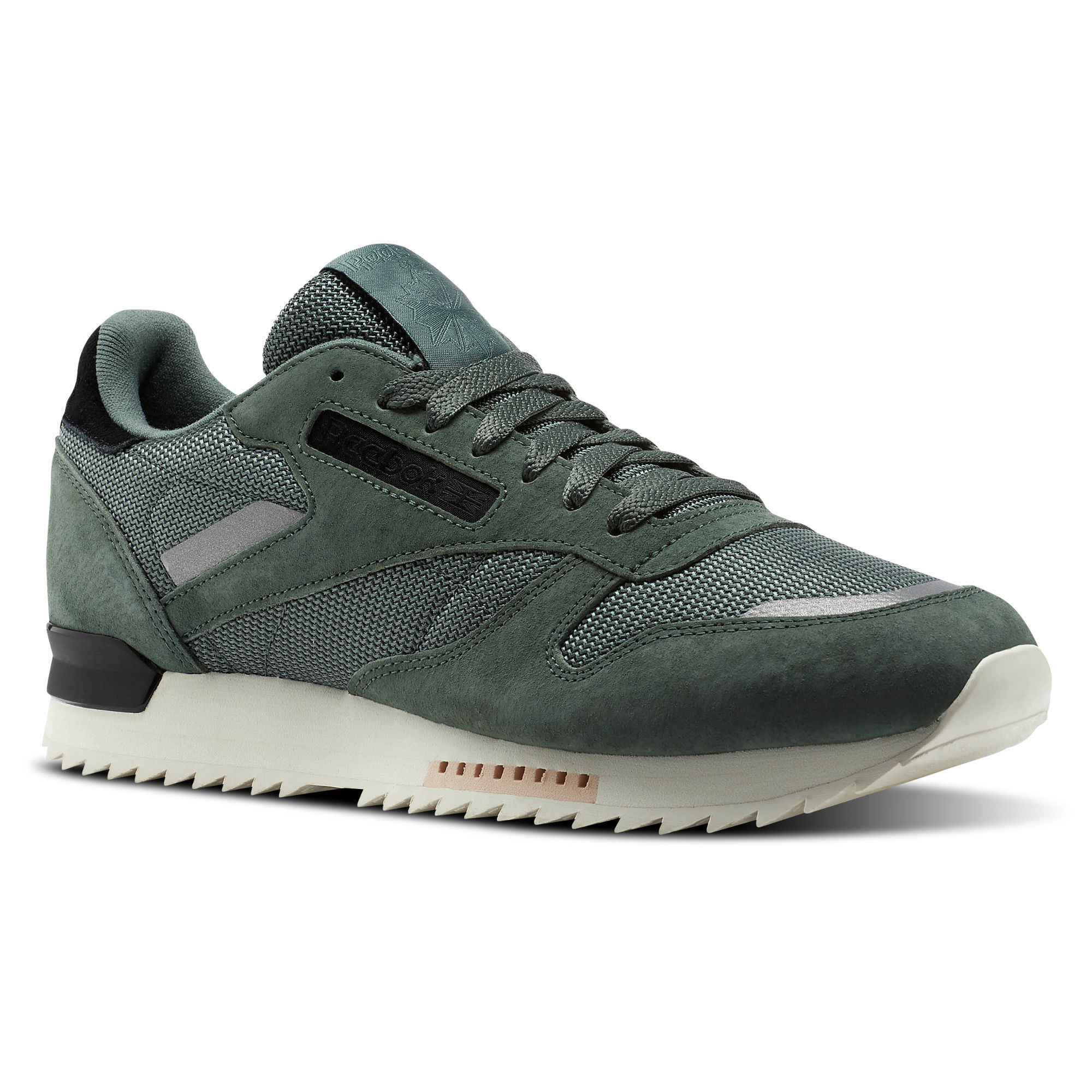 Reebok Classic Leather RIPPLE SN Mens Green/Turquoise/White/Black Sneakers (331OQDBX)
