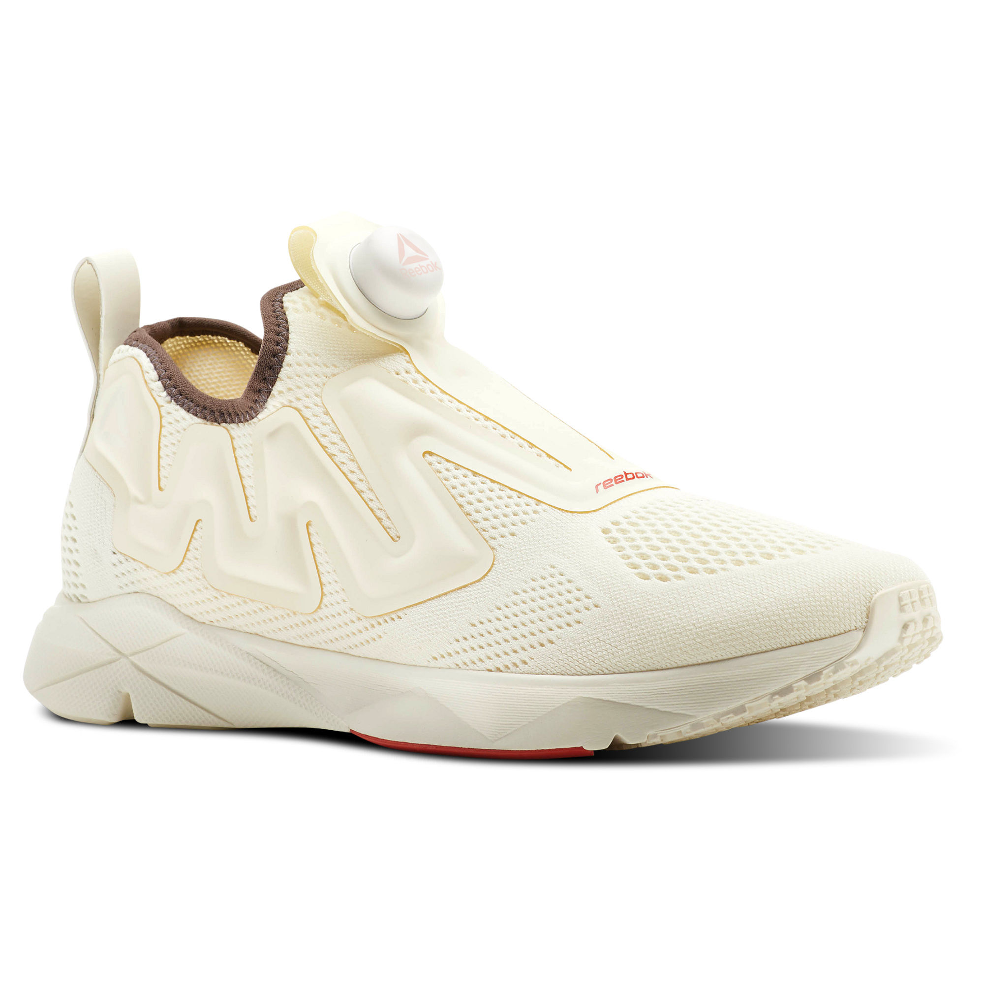 Reebok Pump Supreme Style Mens Beige Running Shoes (454NJHUV)