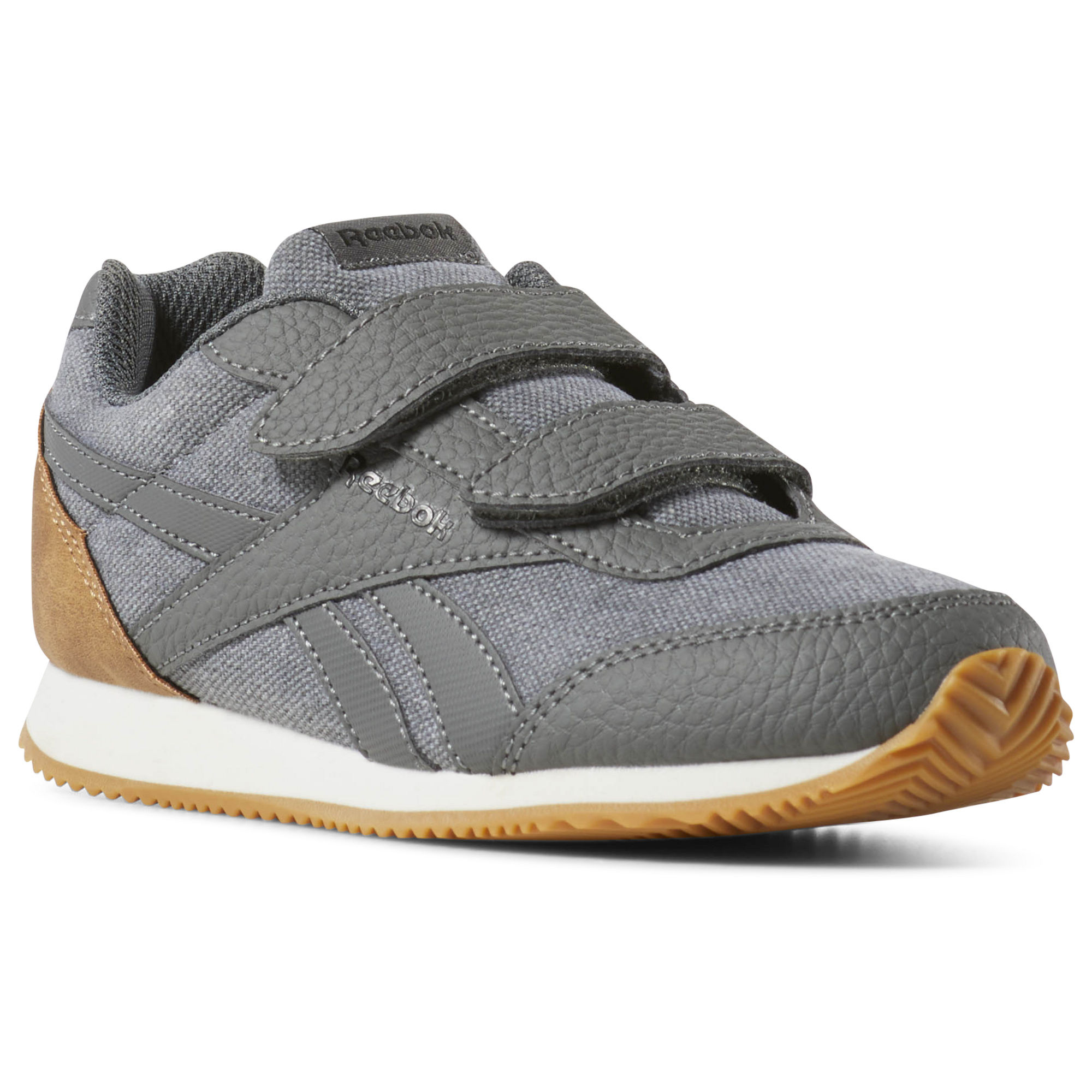 Reebok Royal CLJOG 2 2V Boys Grey/Black/White Sneakers (744VGUEN)