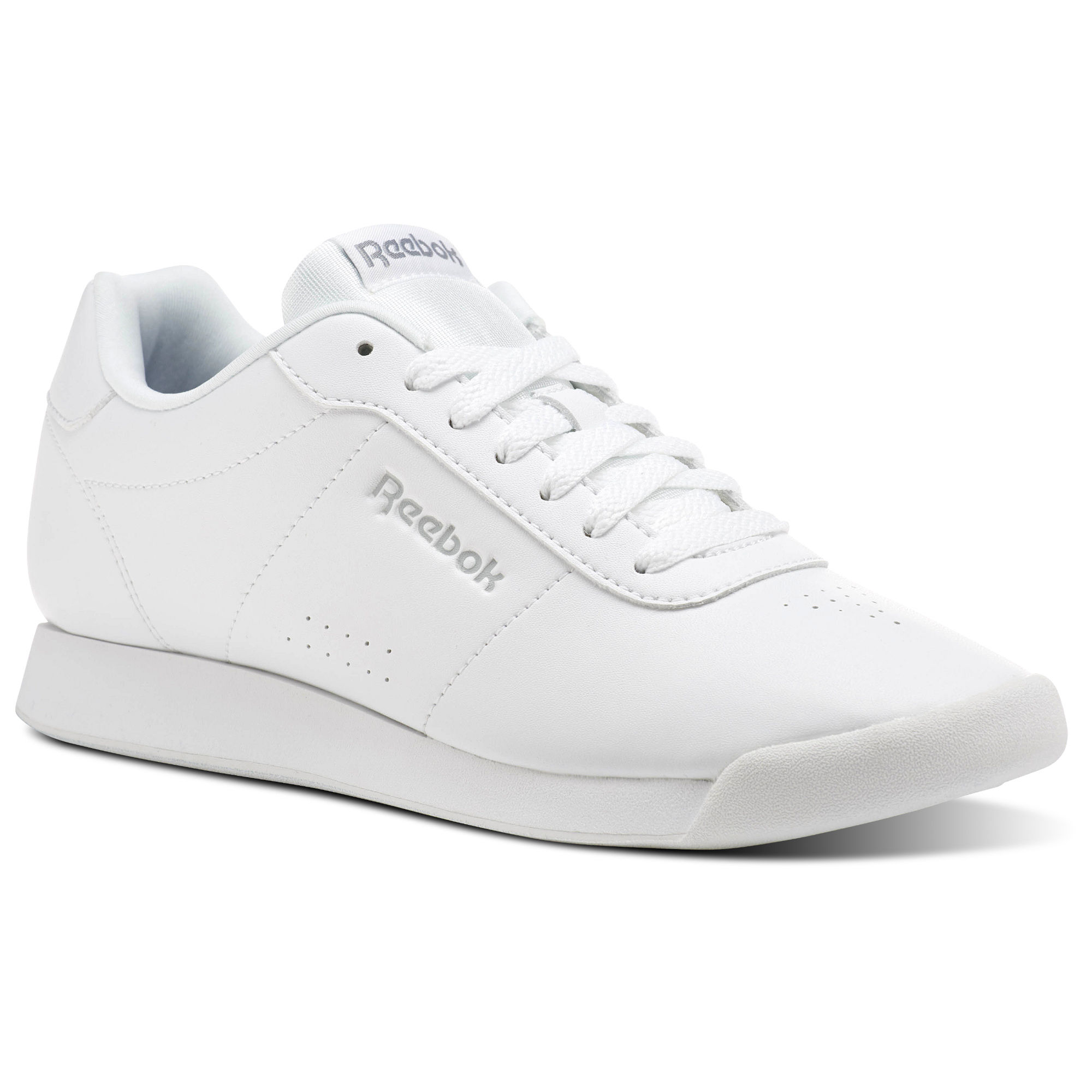 Reebok Royal Charm Womens White/Grey Sneakers (551VQKTN) - Click Image to Close