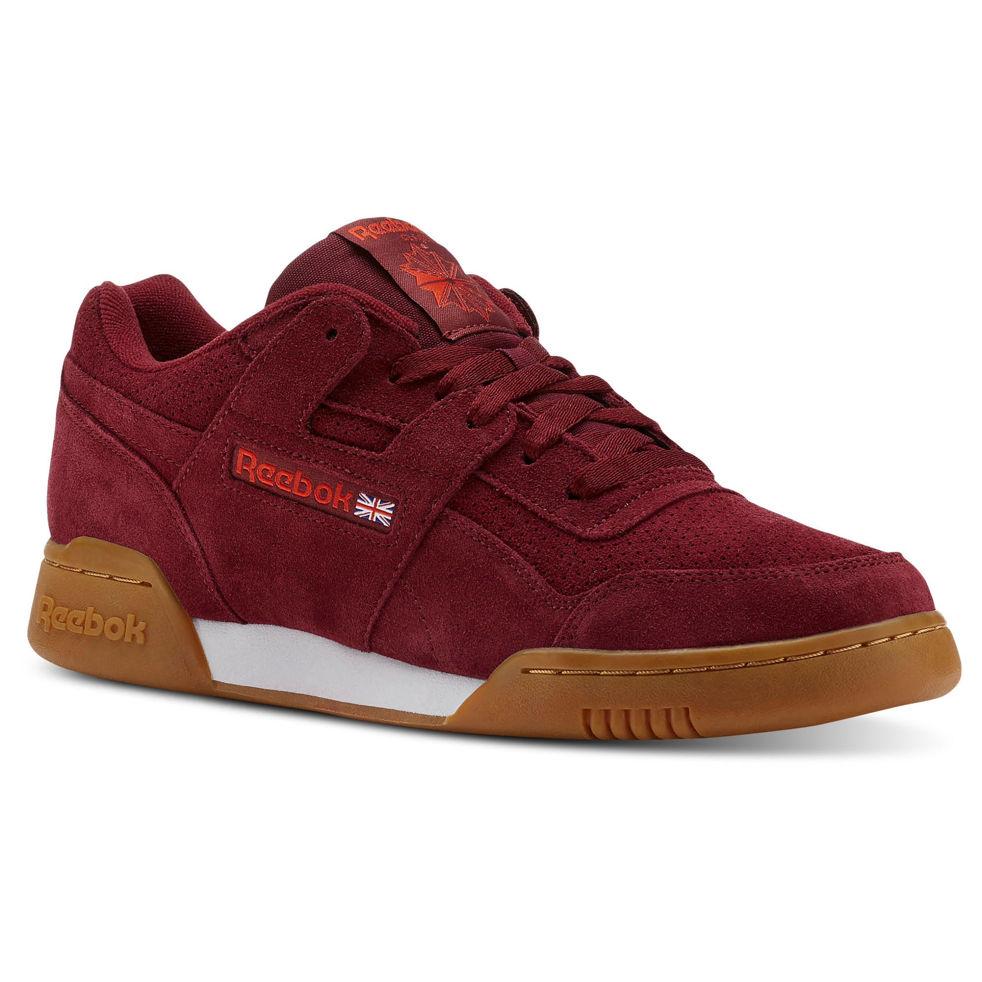 Reebok WORKOUT PLUS MU Womens Burgundy/White Sneakers (272EQBYK)