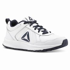 Reebok ALMOTIO 4.0 Girls White/Navy Running Shoes (325GPSJF)