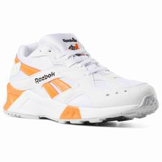Reebok Aztrek Womens White/Black/Orange Sneakers (517SPTUV)