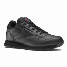 Reebok Classic Leather - Pre-School Girls Black Sneakers (114AXENZ)