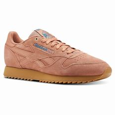Reebok Classic Leather Montana Cans Mens Apricot/Turquoise Sneakers (499BUECG)