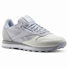 Reebok Classic Leather UE Mens Grey/Grey/White Sneakers (468LIADF)