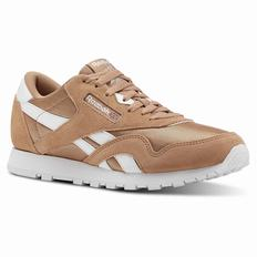 Reebok Classic Nylon - Primary School Girls Brown/White Sneakers (696GSQJP)
