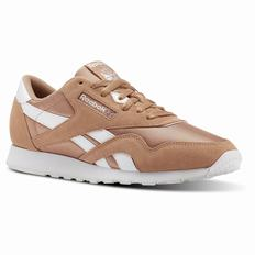 Reebok Classic Nylon M Womens Brown/White Sneakers (285CJTKX)
