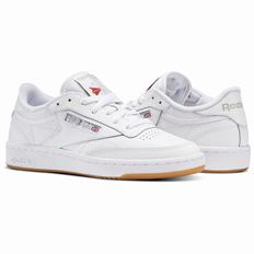 Reebok Club C 85 Womens White/Light Grey Sneakers (791MEINW)