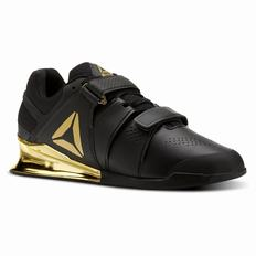 Reebok Legacy Lifter Mens Black/Gold Training Shoes (942KREYZ)