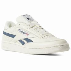 Reebok Revenge Plus Mens White/Blue Sneakers (631ZTQJP)
