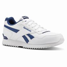Reebok Royal Glide Ripple Boys White/Blue Sneakers (603XRYSN)