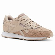 Reebok Royal Glide Womens Beige/White Sneakers (953ODQEN)