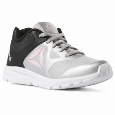 Reebok Rush Runner Boys Grey/Black/Light Pink Running Shoes (590PIZVK)