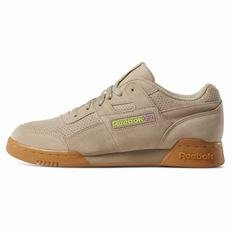 Reebok WORKOUT PLUS MU Mens Beige/Light Green Sneakers (827VGFQD)