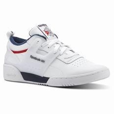 Reebok Workout ADV L Mens White/Navy/Red Sneakers (134PMTDS)