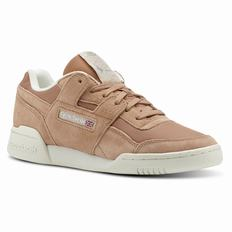Reebok Workout Lo Plus Womens Brown/Silver Sneakers (155CQGAB)