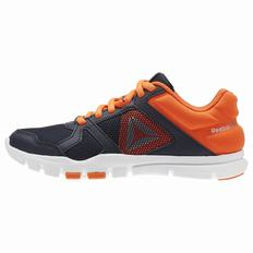 Reebok YourFlex Train 10 Boys Navy/Light Orange/White/Silver Training Shoes (430RAQSF)